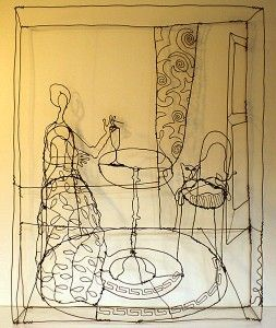 wire drawings  by martin senn