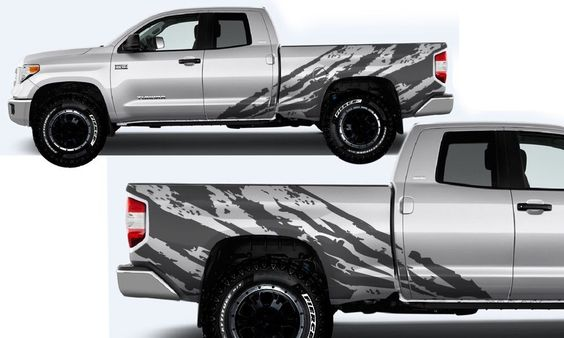 Toyota Tundra Shredder Hood And Truck Bed Decal M Vinyl - Truck bed decals custom