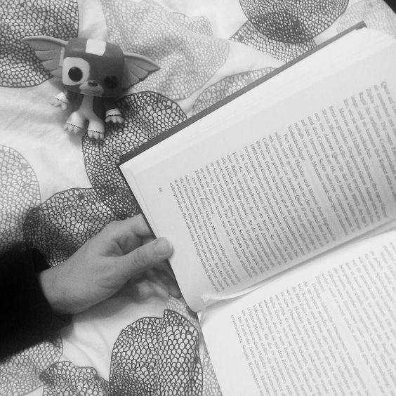 Little Gizmo  Reading time!  Lesezeit mit dem kleinen Freund Gizmo. Süßes Kerlchen   #bookstagram #instabook #booklover #bookish #bibliophile #bookworm #bookaholic #gizmo #gremlin #FunkoPop #igreads by dbroesel
