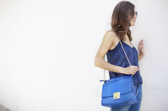 Total Blue Look. Details from my street style outfits. Detalles de mis looks de street style.