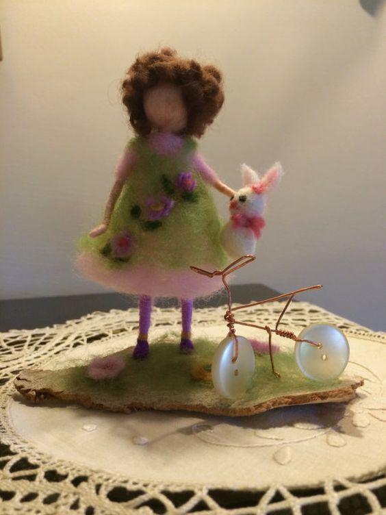 Nadel Filz Waldorf inspiriert Mädchen mit Spielzeug von DreamsLab3