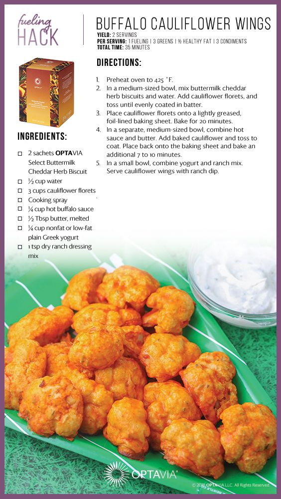 Buffalo Cauliflower Wings Lean And Green Meals Lean Meals