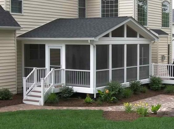 Screened in porch ideas will show you that these come in a for Sunroom sizes