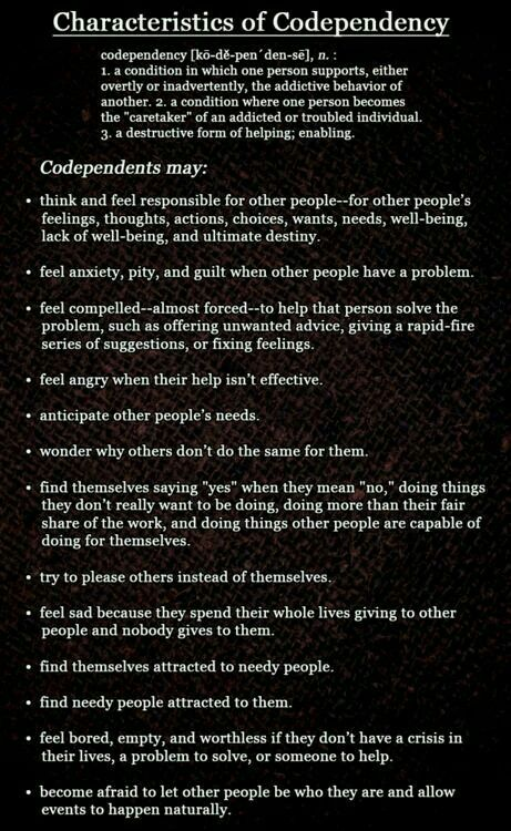 Codependent Personality Disorder. Often occurs as the result of being under the control of a narcissistic sociopath.