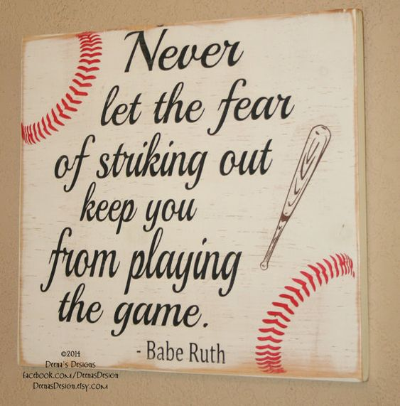 Baseball Decor Baseball Sign Baseball Quote Wooden by DeenasDesign, $32.00