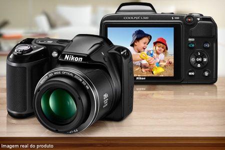 Compre já a sua Câmera semiprofissional Nikon Coolpix L320 (opção de cartão de 16 ou 32 GB), a partir de 12x sem juros de R$ 45,83 + frete grátis.