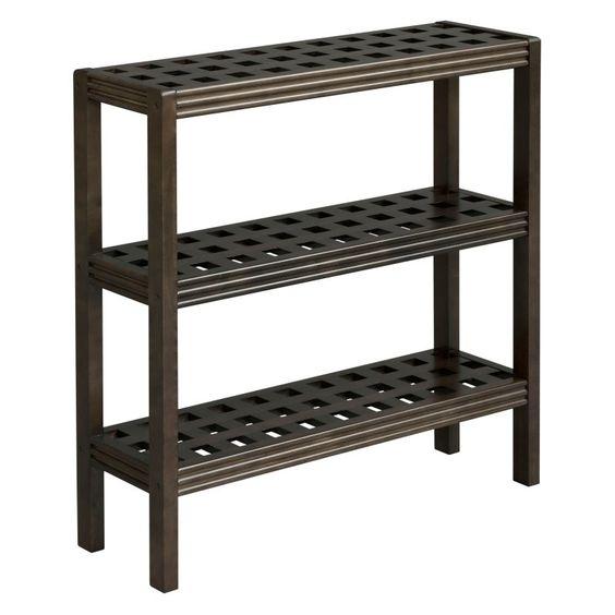 Beaumont Solid Birch Wood 3 Shelf Console/Shoe Rack - 2307-