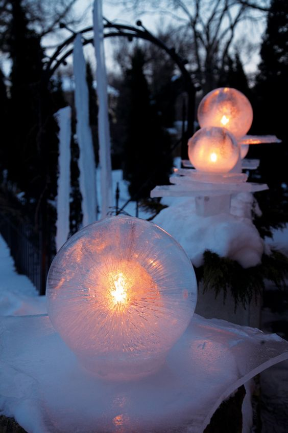 Ice Globe Lanterns, Made Easy
