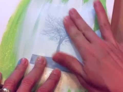 Claudine Hellmuth shows a quick and easy gesso image transfer using Claudine Hellmuth Studio Gesso.