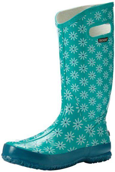 Bogs Women's Rain Boot,Teal Daisy/Multi,9 M US | LET IT RAIN ...