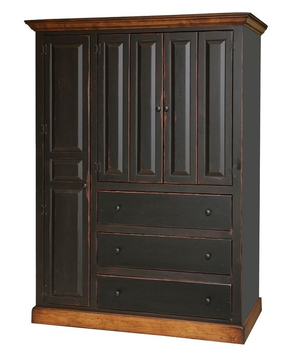 primitive entertainment center armoire bedroom tv cabinet country furniture fantasies. Black Bedroom Furniture Sets. Home Design Ideas