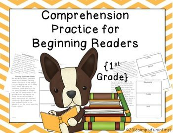 Comprehension Practice for Beginning Readers {1st Grade} Just print and use with your students--20 original passages with response activities. $