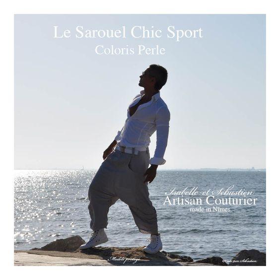 "Sarouel ""Chic-Sport"" - ArtisanCouturier.fr"