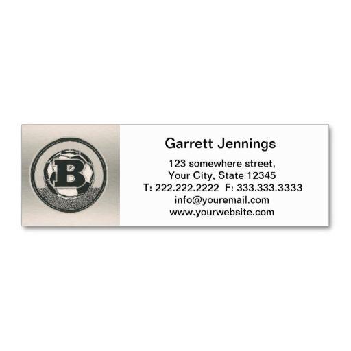 Silver Medal Soccer Monogram Letter B Business Card Template