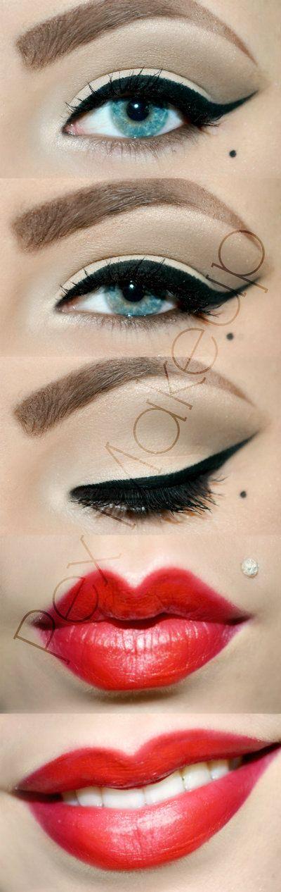 Pin Up Makeup Look by ~PexMakeUp on deviantART