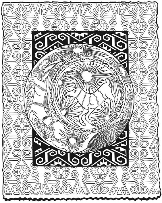mexican folk art coloring pages - photo#24