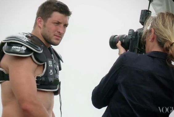 """""""Tim Tebow Vogue: America Must Not Blow Jets QB's Photo Spread out of Proportion"""" Bleacher Report (September 22, 2012)"""
