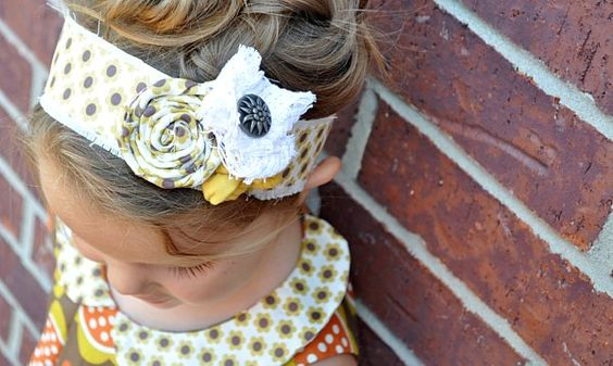 Cute DIY headband: Diy Headband, Cute Headbands, Fabric Headbands, Head Band, Diy Craft, Fabric Headband Tutorial