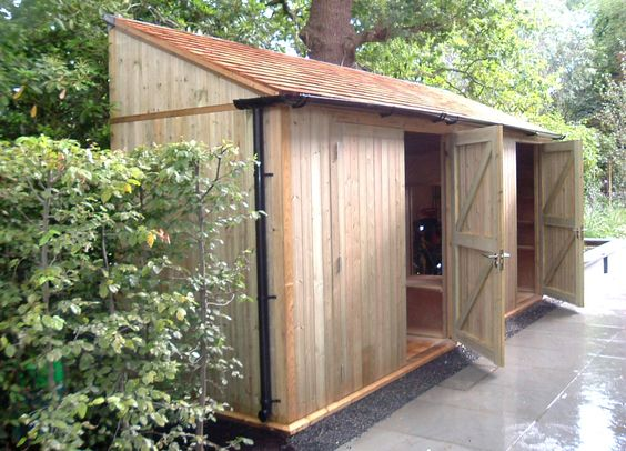 Shed long and narrow home and garden pinterest for Very small garden sheds