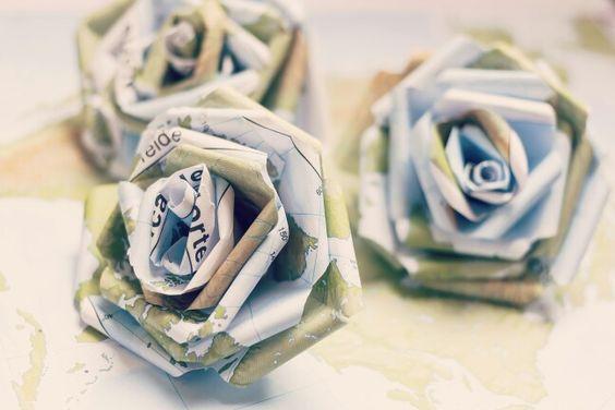 Rosas de papel.