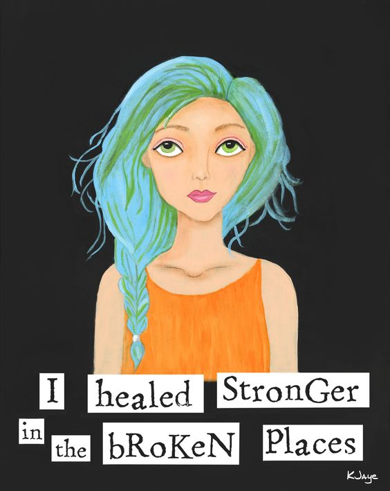 She healed stronger in the broken places. And so did you. Fine Art by KJaye.