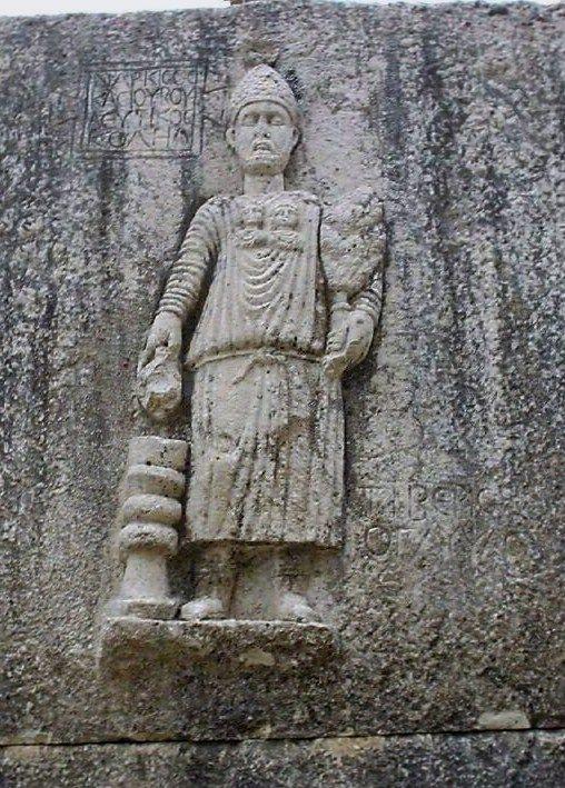 Statue At The Roman Temple At Niha Lebanon Mount Hermon Statue