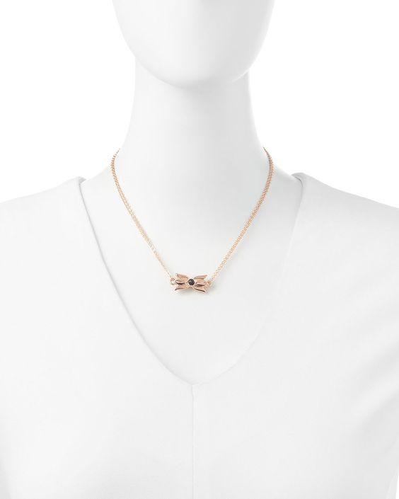Tulip Necklace, Rose Gold