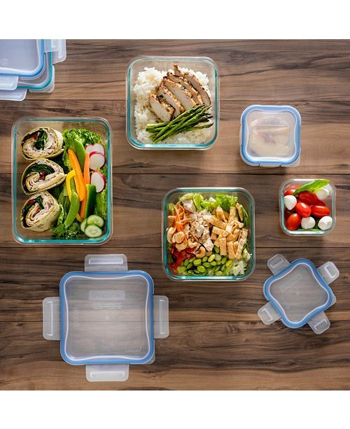 Snapware 10 Pc Glass Meal Prep Set Reviews Kitchen Gadgets Kitchen Macy S Glass Food Storage Food Food Storage Container Set