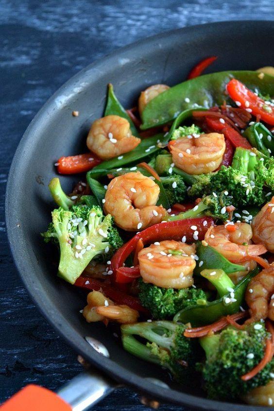 Easy Shrimp and Vegetable Stir Fry