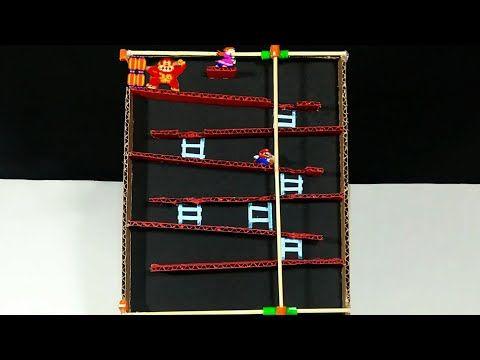Como Fazer Um Jogo Do Donkey Kong Em Casa Youtube Donkey Kong Make It Yourself Kong