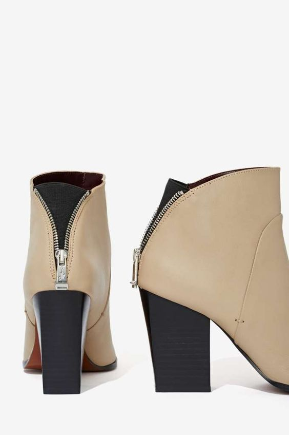 Report Signature Blare Leather Bootie - Heels | Heels |  | Newly Added