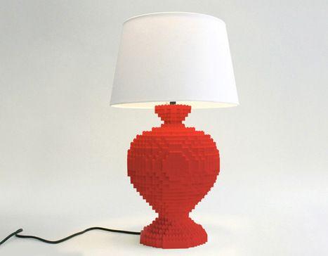 Lampe Lego du designer Sean Kenney | Interieurgeek | Scoop.it
