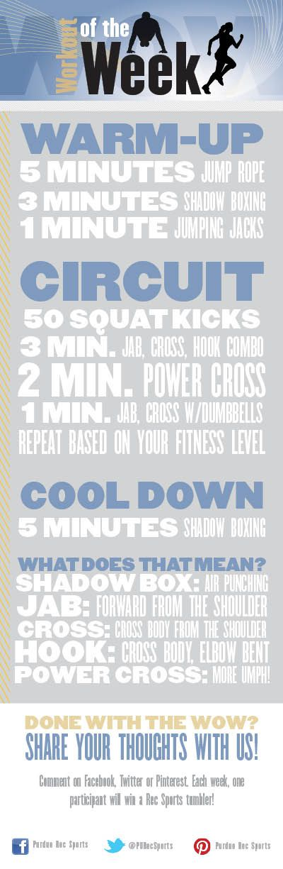 Try this awesome boxing-based circuit from personal trainer Jackie. Not a boxer? No worries! We've added a cheat sheet at the bottom. No punching bag needed!
