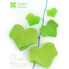 OEM Green Leaf Sticky Note Memo Sticker Bookmark