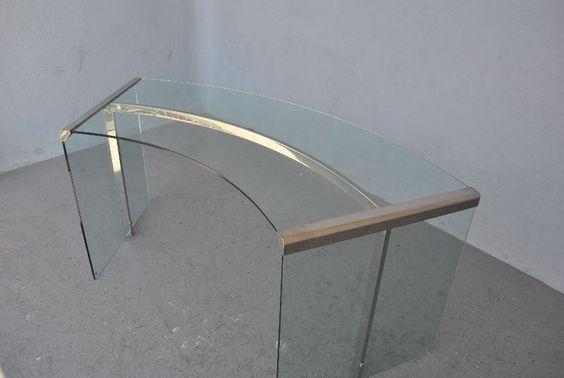 Bureau verre design vintage italien garodi et radice photo