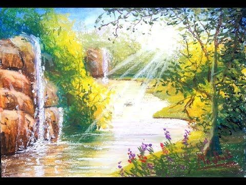 Sun Rays Oil Pastel Painting Lesson Lesson Painting Pastel Oilpastels In 2020 Oil Pastel Paintings Pastel Painting Oil Pastel