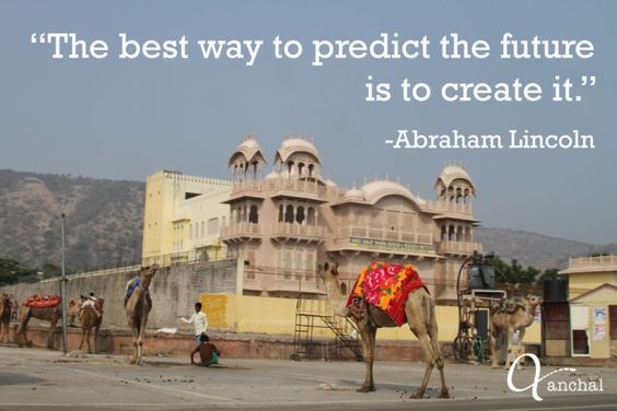 """""""The best way to predict the future is to create it."""" #AbrahamLincoln"""