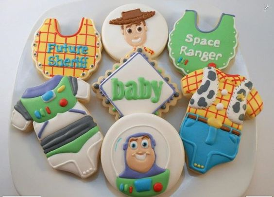toy story baby shower cookies baby shower cookies pinterest toys