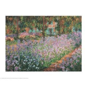 ''Artist's Garden at Giverny 1900'' by Claude Monet Garden Art Print