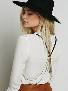 Free People Free People Shakta Harness Vest Black