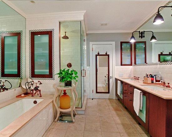 Bright Bathroom Interior Covered Shower Carnegie Hill Brownstone Interior Decor - Decorstate