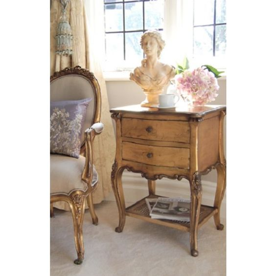 Gold Gilt Emmanuel Bedside Table | Bedside Tables | Beds & Bedroom | Sweetpea & Willow