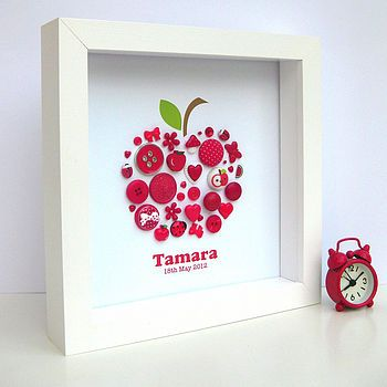 Personalised button art- I'm gonna try a butterfly