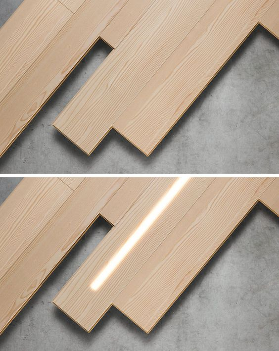 Led Lighting Is Hidden Within These Wooden Wall Panels Wood Panel Walls Wood Panel Lighting Wall Paneling