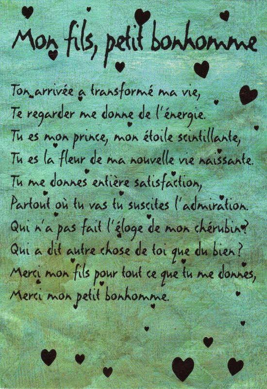 Poeme D Amour A Son Fils : poeme, amour, Poeme, Fils,, Citations, Texte, Maman