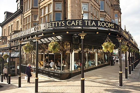 Harrogate, North Yorkshire. We always visit Betty's there, not least as my grandfather worked for them in the 1920's before he moved south to Reading - later to start Warings Bakery in 1932.