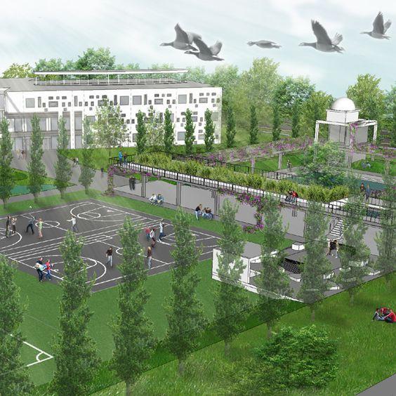 Inrichtingsplan voor de openbare ruimte en buitenruimtes voor CS Vincent van…