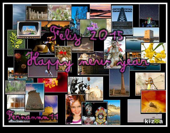 """..... FOTOGRAFIAS PERSONALES .....: 116/2014: """"Collage fotográfico 2014""""   .....desear un feliz año 2015, que venga lleno de toda dicha, paz, amor y felicidad, de este humilde bloguero y fotógrafo....."""