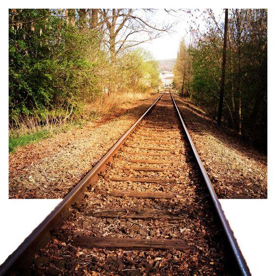 Robbat1987: Stillgelegte Eisenbahnschiene beim Spazieren gehn