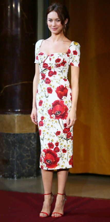 Look of the Day - Olga Kurylenko - from InStyle.com